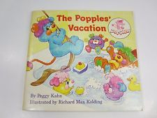 The Popples' Vacation First Edition 1987 Mini-Storybook  Kahn & Kolding PB
