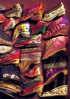 Chinese shoes for women who were footbound