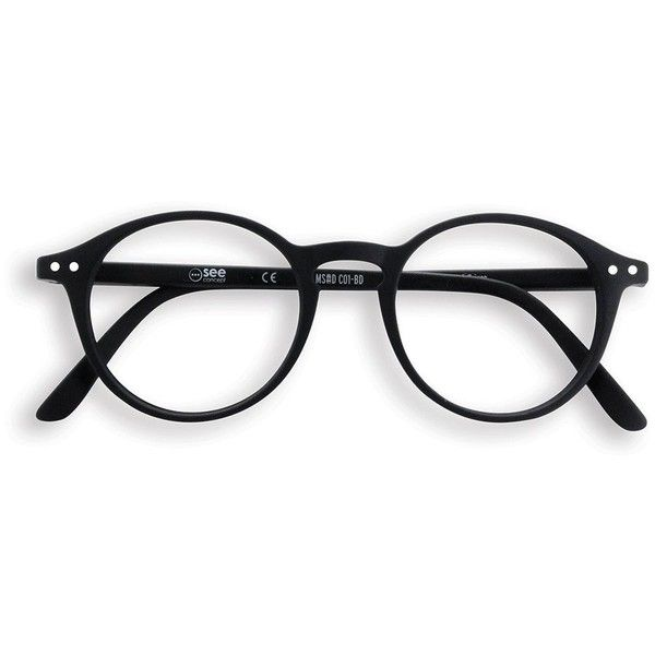 Black round frame reading glasses (50 CAD) ❤ liked on Polyvore featuring accessories, eyewear, eyeglasses, glasses, matte glasses, reading eye glasses and reading glasses
