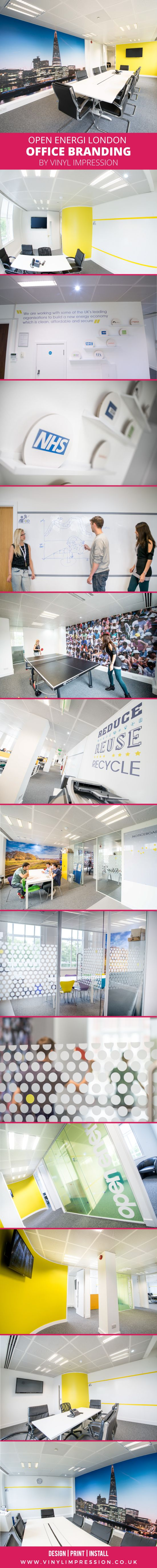 Office Branding Project Designed Printed Installed By Vinyl Impression