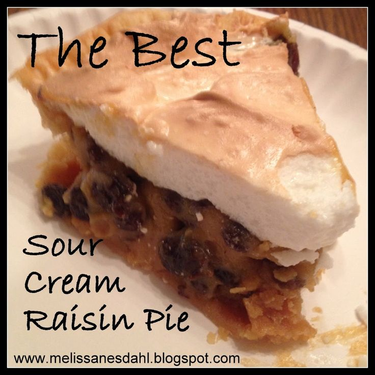 Fill My Cup: The Best Sour Cream Raisin Pie {Recipe}