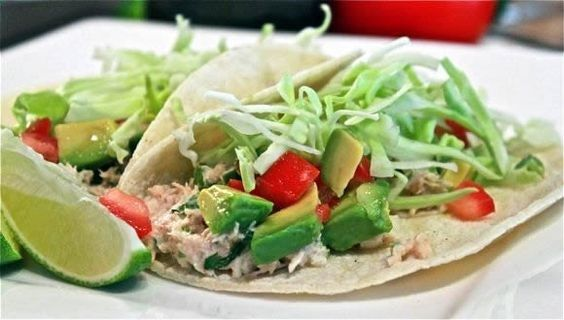 Tuna Fish Tacos Recipe from Average Betty | This quick recipe is fantastic for summer and can be made with just a few ingredients. Our Jalapeño Clover Leaf Tuna would go perfectly with this dish and enhance the flavour even more! Serve these for a last minute lunch or include in your tapas dinner party. #cannedtuna #flavouredtuna #quickrecipes