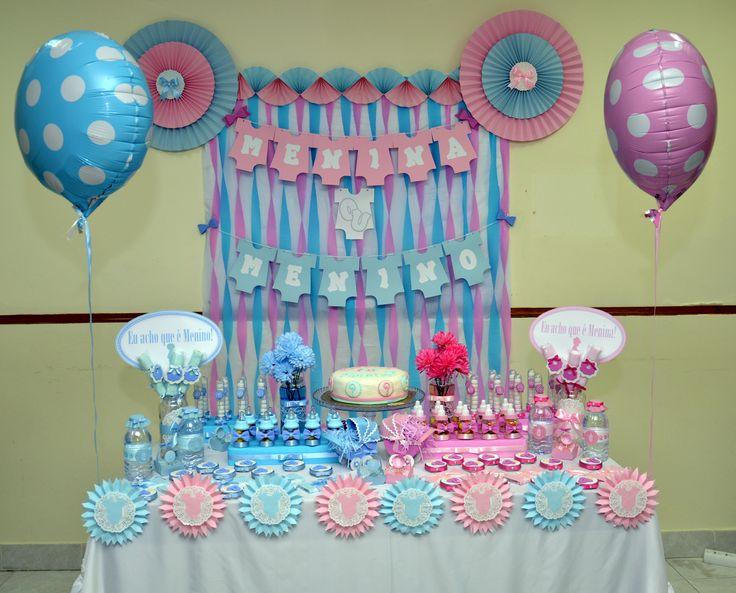 150 best images about chá de baby on Pinterest Quartos, Baby showers and Custom candy -> Decoração Cha De Fralda Revelação