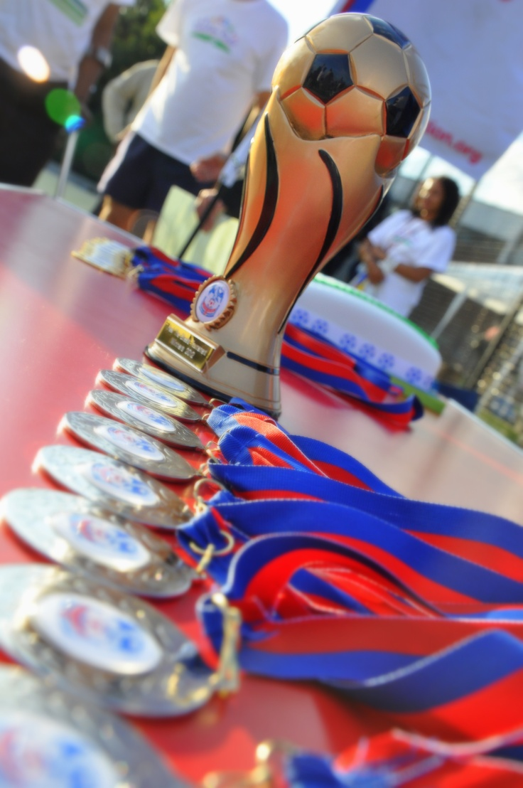 Medals for the runners up and winners...