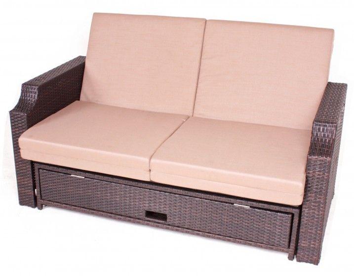 Polyrattan Funktionssofa Monaco Mocca Braun Polyrattan Gartenmobel Outdoor Sofa Sofa