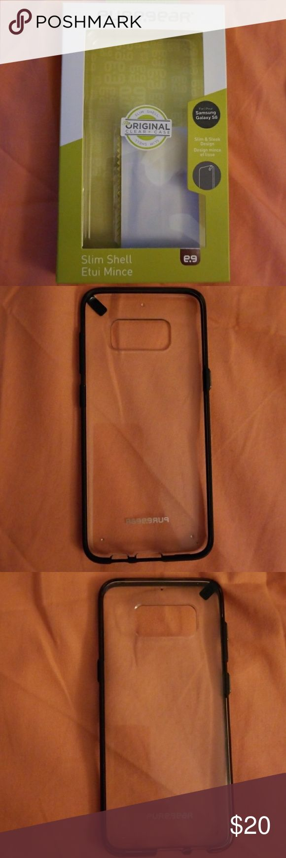 Brand New Pure.gear Cell Phone Case Galaxy S8 Brand New, Never Used Pure.gear Cell Phone Case Galaxy S8. Clear & black. Slim case! pure.gear Accessories Phone Cases