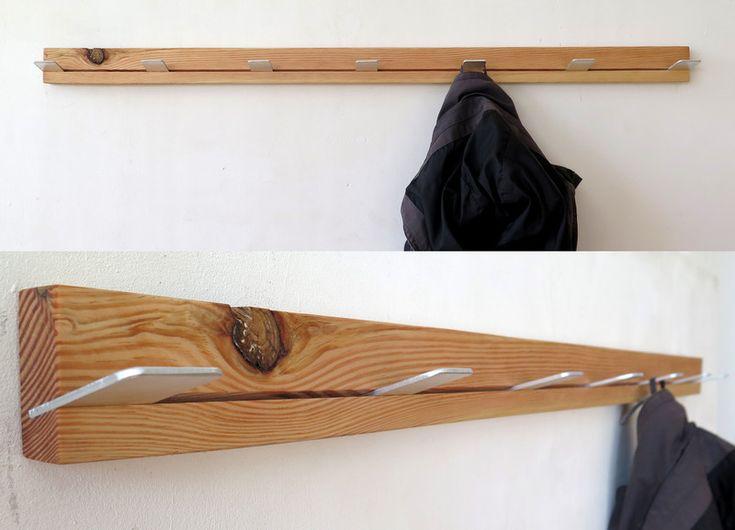 Garderoben - Garderobe Bauholz / Aluminium - ein Designerstück von -VORNDAMME- bei DaWanda