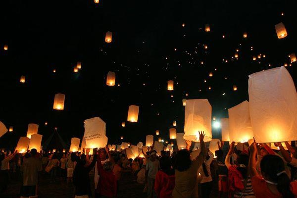 Lanterns set out during the Viray Festival in Santa Ana, Cagayan, Philippines :)  (photo by Nicky Sering)