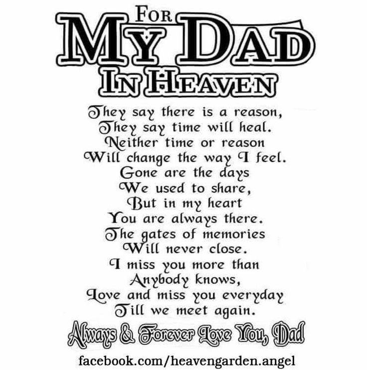 25+ Best Ideas About Dad In Heaven On Pinterest