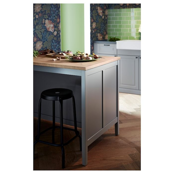 Tornviken Kitchen Island Gray Oak Length 49 5 8 Ikea I 2020 Koksrenovering Koksdesign Ikeakok