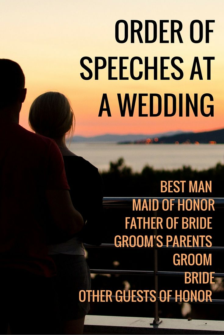 wedding speech order wedding planning tips pinterest wedding speech order weddings and wedding