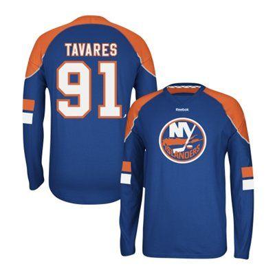 86d8e9b09 ... Mens New York Islanders John Tavares Reebok Royal Edge Long Sleeve  Jersey T- Shirt Mens New York Islanders 91 John Tavares 2015 Reebok Black  Premier ...