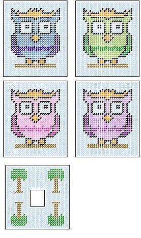 Owl Tissue Box Cover Plastic Canvas Pattern by PCDesignz on Etsy, $3.00