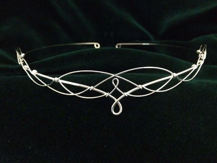 Silver Circlet Tiara Crown Medieval Elven Bridal Prom Renaissance Festival  | eBay