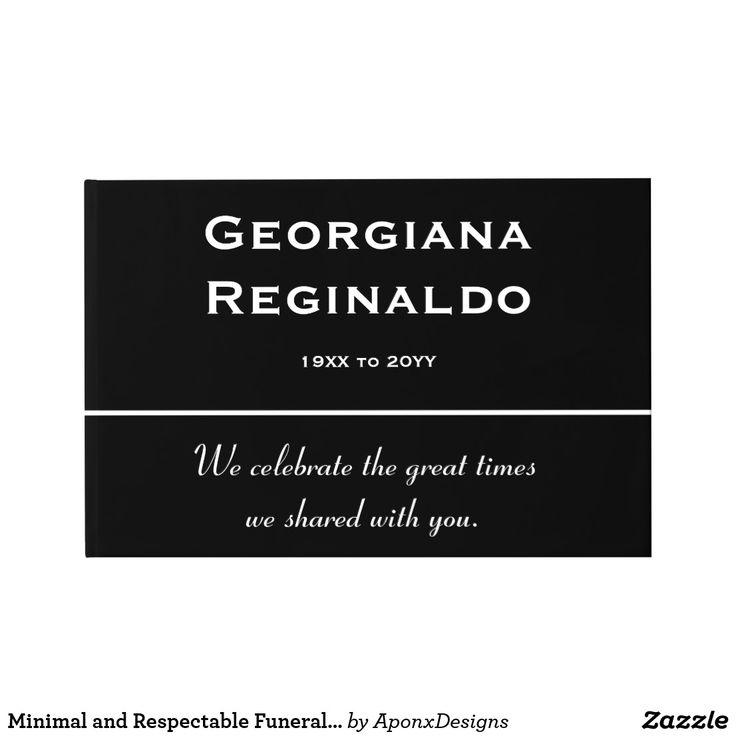 Oltre 25 idee originali per Funeral guest book su Pinterest - guest register template