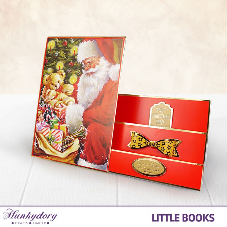 We're loving the funky shape of this card that is paired with an image from The Little Book of Twas the Night Before Christmas.