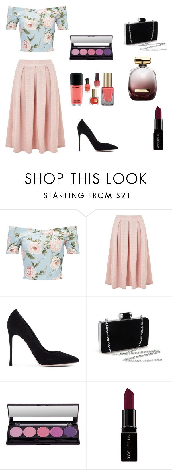 """""""Pink and Black"""" by dianacrystal on Polyvore featuring мода, Miss Selfridge, Gianvito Rossi, Smashbox и Nina Ricci"""