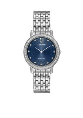 Belk & Co. Women's Ladies' Citizen Eco-Drive Silhouette Stainless Steel Watch - Blue - One Size