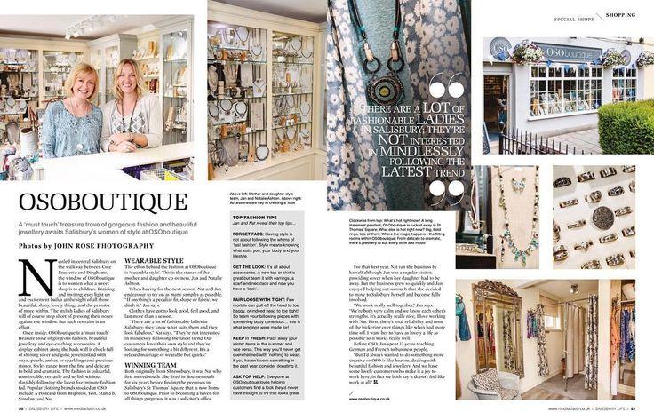 #osoboutique shot for #salisburylifemagazine #commercialphotography #commercialphotographer #published #magazine #salisbury #wiltshire #silver #jewellery #boutique