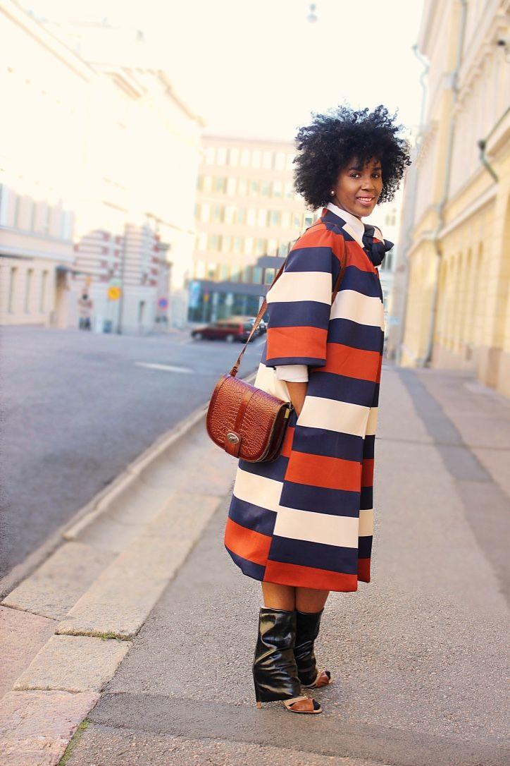 Letting Go of My Inner Perfectionist: Featuring the Mimiri Oversized Print Coat   Mimiri