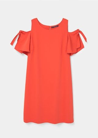 Off-shoulder dress | VIOLETA BY MANGO