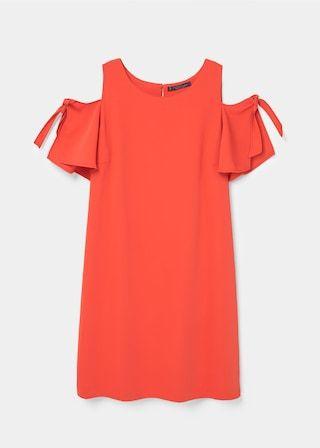 Off-shoulder dress | VIOLETA BY MANGO