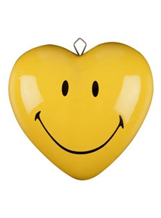 Ceramic heart - Reminds me of my D-man.  He loves smiley faces!