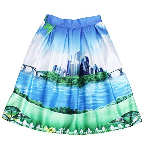 Cfanny Womens Vintage 50s Audrey Hepburn Style Pleated Swing Skirts List Price: $24.99 Buy New: $17.99