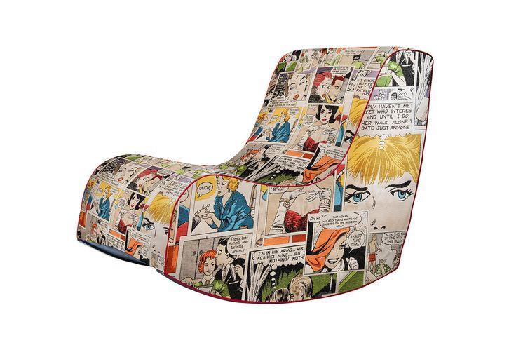 Houpací křesílko Komix kolekce. Ponořte se do světa komiksu v pohodlném houpacím křesle
