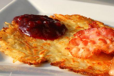 Raggmunkar med bacon och lingon | Jennys Matblogg | Damernas Värld