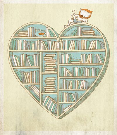 : Book Club, Ideas, Bookshelves, Reading, Book Heart, Hearts Illustrations, Bookworm, Junk Bookshop
