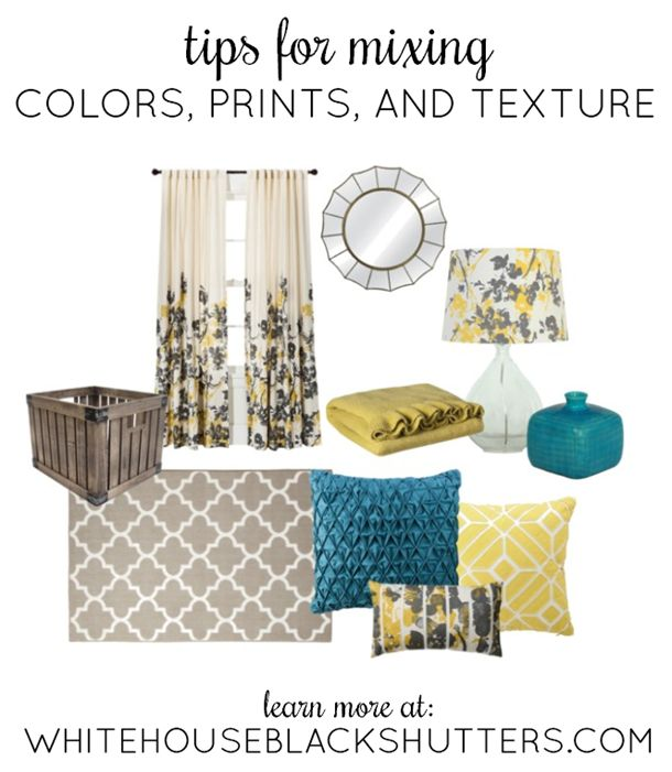 cheap glasses online Tips for mixing color prints  and texture in a room