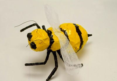 Bumble Bee. Age 8 -Paper Mache Insects c/o Art for Small Hands