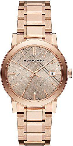 Burberry Rose Dial Rose Gold-tone Ladies Watch BU9034