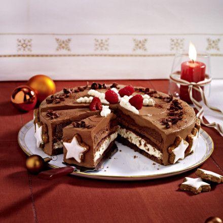 Schoko-Zimtstern-Torte Rezept