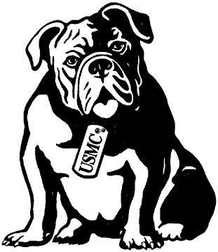 Bulldog Logo for Leatherneck Steakhouse  Marines Memorial Club