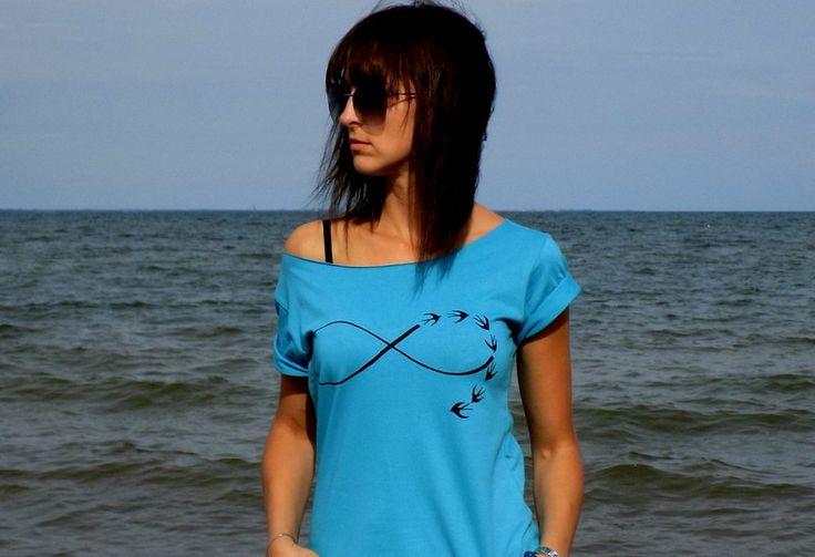 """t-shirt luźny """"INFINITY"""" NOWY KOLOR - AK-Creativo - Koszulki z napisami"""