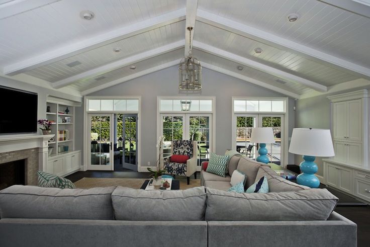 Sectional Sofas Vaulted Ceilings And Lamps On Pinterest