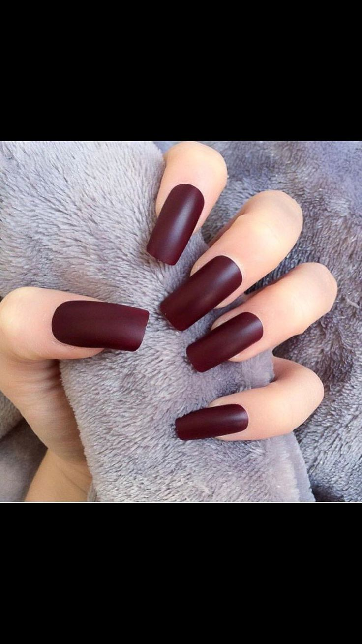 Burgundy Matte Stiletto Nails With Glossy Tips: Best 25+ Burgundy Acrylic Nails Ideas On Pinterest
