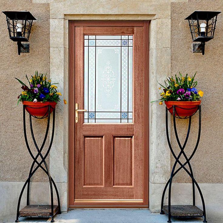 2xg external mahogany door, low price for such stunning glass. #traditionaldoor #traditionalexternaldoor #traditionalfrontdoor