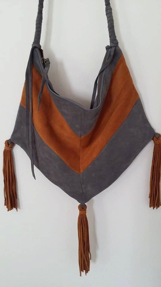 Hand Crafted Suede Festival Bag by GypsyRockClothingxx on Etsy, $180.00