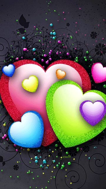 HEARTS OF MANY COLORS BEATING AND GLISTENING....