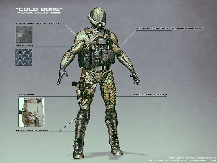 "Quick photobash to visualize some ideas for ""TALOS"" armor. #gamedev #screenshotsaturday http://claudiosetti.blogspot.ca/"