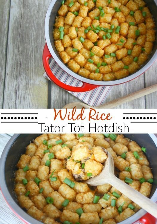 Wild Rice Tator Tot Hotdish