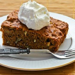 Kalyn's Kitchen®: Recipe for Low Sugar and Whole Wheat Apple-Pear Cake with Cinnamon and Pecans