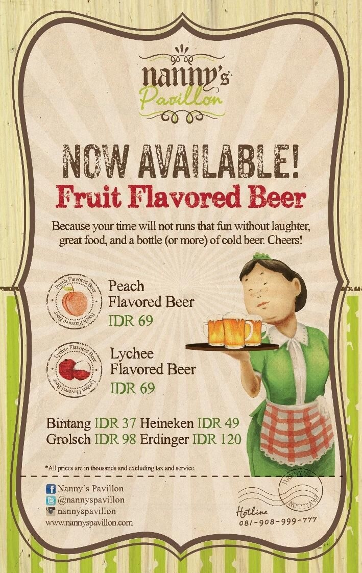 Weekend is here and Flavor Beer is now available in Nanny's Pavillon Kitchen, Pondok Indah Mall! ;)