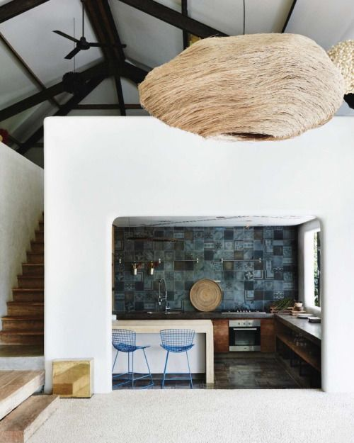 """Tropical Mood: In Bali, a stunning exotic architecture, with Mediterranean accents, design and colour by Architects Valentina Audrito and Abhishake Kumbhat"" - EXOTIC ESCAPE -"