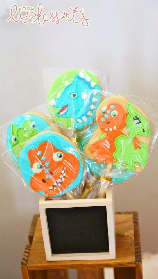 dinosaur train party cookies