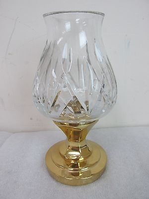 Vintage Waterford Crystal Hurricane Lamp Candle Holder W