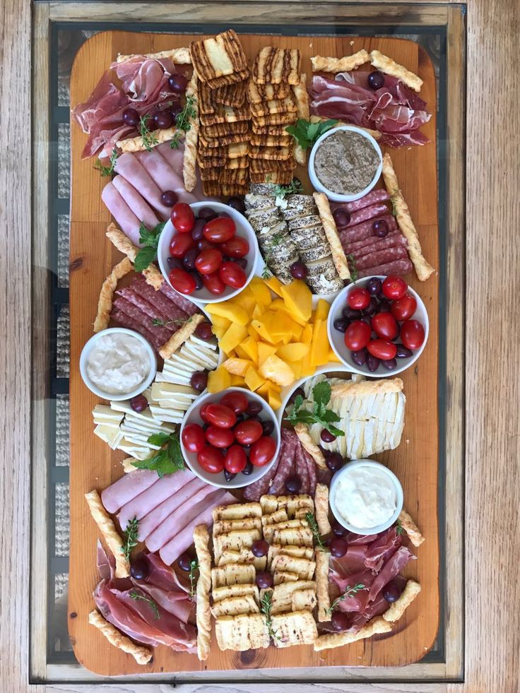 Cheese and meat platter by Frans and Mia